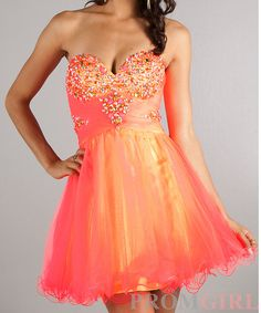 2019 year for lady- Neon short coral prom dresses