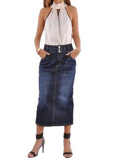 Uptown Denim Skirt # PE-0588