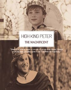 My favorite Narnian royal ever! Long live High King Peter the Magnificent! Forever may you reign, Sir Peter, Wolf's Bane!