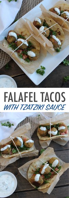 Falafel Tacos with Tzatziki Sauce | Britt's Blurbs