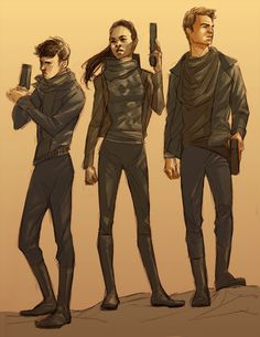 Spock, Uhura and Kirk (Into Darkness Fanart).
