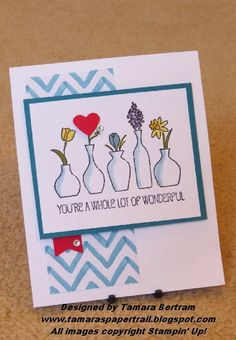 Vivid vases Wood stamp #133818 $14.95 To place an order with me, please visit my website at: www.stampinjo.stampinup.net