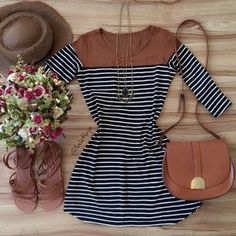 I have this dress & can't wait to wear it Cute Dresses, Casual Dresses, Casual Outfits, Fashion Dresses, Cute Outfits, Look Fashion, Girl Fashion, Womens Fashion, Vetement Fashion