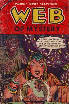 Comic Book Cover For Web of Mystery #19