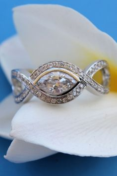 marquise diamond ring - creative way to reset a marquise stone