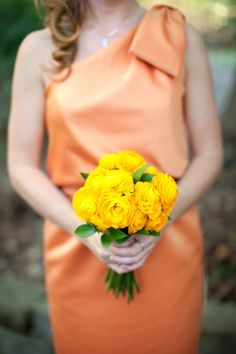 I like that this smaller bouquet is all one color/flower... although the ranunculus sounds like it may be too pricey.