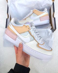 We just can't get enough of the Nike Air Force 1 Shadow, what's been your favourite colourway? let us know in the comments!  Tap the… Cute Nike Shoes, Cute Nikes, Cute Sneakers, Shoes Sneakers, Af1 Shoes, Adidas Shoes, Nike Shoes Air Force, Nike Air Force Ones, Sneakers Fashion