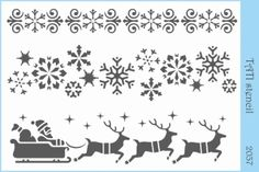 - 20 х 15 sm. Stencils by TATI stencil Hobby & Decor - товары для рукоделия Christmas Stencils, Christmas Crafts, Xmas, Christmas Ornaments, Decoupage Vintage, Colouring Pages, Coloring Sheets, Parchment Design, How To Draw Steps