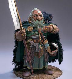 m Dwarf Wizard Robes helm Bardiche Axe dagger Cape Familiar Crow The old crow by Farhad