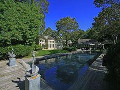 Garden + Deck Sagaponack New York  Love wood decking around pool!!
