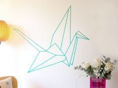 How to make a wall decoration with a roll of masking tape and a projector? Simplest DIY in less than 2$ & 10 min. Just watch our video, & lets roll !