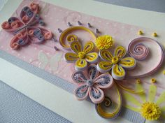 Quilling Butterfly Greeting Card -Birthday - Valentine's Day - Mother's Day