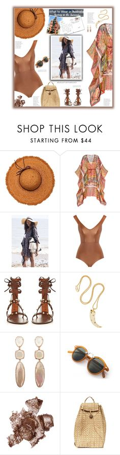 """Sydney in the Summer"" by fassionista ❤ liked on Polyvore featuring La Fiorentina, Calypso St. Barth, Zimmermann, Valentino, Aurélie Bidermann, By Terry, Summer, beach and outfitsfortravel"