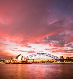 I Was Wrong, Sydney Harbour Bridge, Ocean, Sunset, City, Building, Travel, Instagram, Viajes