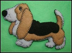 Basset Hound Magnet/Ornament combo-Basset lovers gift for any occasion-handmade embroidered felt-ori Dog Crafts, Animal Crafts, Yarn Crafts, Felt Crafts, Felt Patterns, Applique Patterns, Basset Hound, Gift For Lover, Lovers Gift