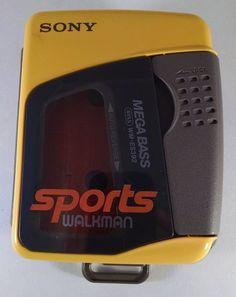 Sony Walkman Cassette Player WM-ES392 Tested Works Great Free Ship Retro VTG #Sony