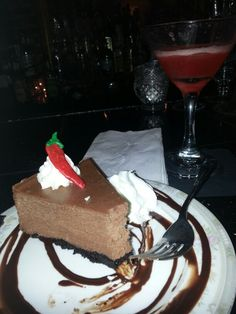 Chocolate Chili Cheesecake at Lulu's Chocolate Bar in Savannahs with a ...