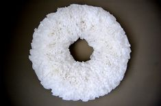 Looks so bouncy and frilly and lacy and really it's just coffee filters. Coffee filters that never looked so good!