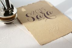 Making an impression with handmade rough papers & manual embosser...
