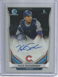 2014 Bowman Draft Chrome KYLE SCHWARBER Auto Autograph Card Cubs Prospect 2 #ChicagoCubs