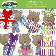 Gift Giver Ted Clip Art Download