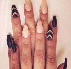 Ballerina Coffin Nails Tumblr Ballerina shaped nails on