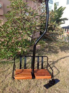 Restored 1960s Creast Butte Resort Ski Lift Chair Powder