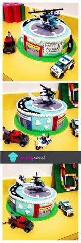 Pretty Sweet:: Lego City birthday cake