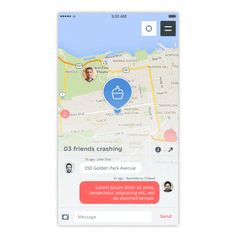 Chalvet's recent design project presents a map app design concept, Crash. Crash shows off a very clean interface that appears very simple to use. App Map, Mobile Web Design, Ui Kit, Interactive Design, Ios App, Ui Design, Mobile App, Design Projects, Concept