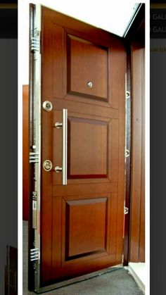 Front Door Design Wood, Wooden Door Design, Main Door Design, Wooden Doors, Entrance Doors, Front Doors, Pooja Rooms, House Doors, Blouse Designs