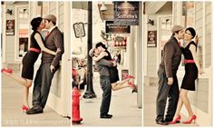 vintage style engagement shoot - so cute!