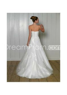 US $242.19 Free Shipping A-Line/Princess Halter Top Chapel Train organza Satin wedding dress for brides 2010 Style(WD0261)