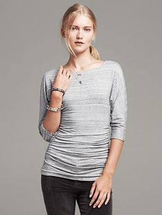 Striped Dolman-Sleeve Top Product Image