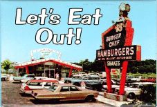 Burger Chef - Let\'s eat out Photo: A great fast food restaurant. Back in the good old days, and those were good days. Vintage Restaurant, Fast Food Restaurant, Before I Forget, Fish Sandwich, Port Arthur, Soda Fountain, Food Places, Good Ole, Do You Remember
