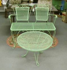 Mid Century Patio Furniture Iron Love The Color