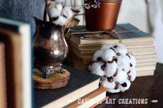 Camelot Art Creations: DIY Faux Cotton Boll Ball