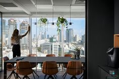 Planning and Designing Offices In Company - Entrepreneurship and Real Estate Improvement Electra City Towers Tel Aviv Tel Aviv, Towers, Entrepreneurship, Offices, Conference Room, Real Estate, How To Plan, City, Table