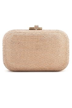 Judith Leiber Gold Fortune Cookie Clutch- simple but gorgeous statement, subtle enough for the even the loudest tea party dress.