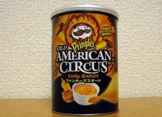 Cause nothing says America like a funky mustard circus! Pringle flavors worldwide.