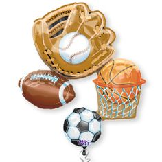 """Sports Shaped 32"""" Baby Shower Balloon $5.99"""