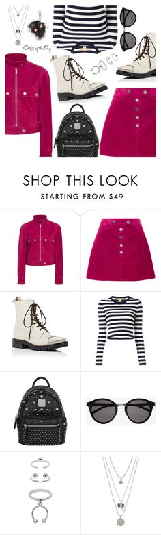"""Outfit of the Day"" by dressedbyrose ❤ liked on Polyvore featuring Courrèges, Alexander Wang, Michael Kors, MCM, Yves Saint Laurent, Maria Francesca Pepe, Lucky Brand, Petit Bateau, Fendi and ootd"
