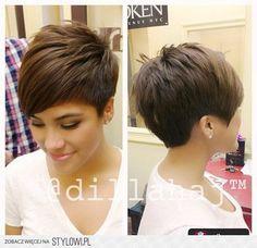 Fryzury krótkie włosy brązowe