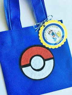 Set of 12 Pokemon Favor Bags with Personalized by SalomeCrafts