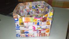 Idea con tus manos: CAJA DE PAPEL (reciclado)