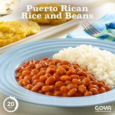 Rice and Beans This authentic Puerto Rican Rice and Beans recipe only takes 20 minutes—start to finish. Why not try it tonight!This authentic Puerto Rican Rice and Beans recipe only takes 20 minutes—start to finish. Why not try it tonight! Side Dish Recipes, Rice Recipes, Mexican Food Recipes, Cooking Recipes, Ethnic Recipes, Beans Recipes, Side Dishes, Steak Recipes, Cooking Tips
