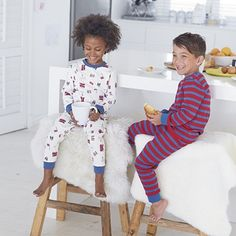 We've teamed our popular London motif pyjamas with a striped pair this time around – ensuring your little boy is sorted for comfy nightwear as the temperature drops. In our classic elasticated fit, one pair is covered in our fun London-them Little White Company, Baby Kids, Baby Boy, Striped Pyjamas, Toddler Boy Fashion, 2 Boys, Baby Sale, Nightwear, Little Boys