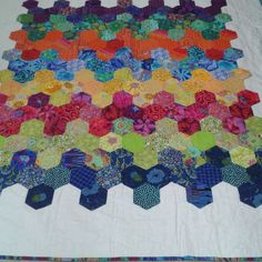 "Rick-rack ""BIG hexies! #duckcottagedesigns #potpourricottage @trudymjohns"""