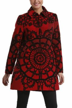 Desigual women's Soul Migration coat from the Desigual by L range. A garment that embodies the elegance and sophistication of the French fashion designer, Mr Lacroix.