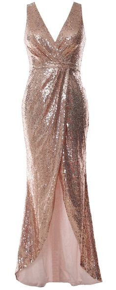 Shop the latest collection of MACloth Women V Neck Sequin Long Bridesmaid Dress Wedding Formal Evening Gown from the most popular stores - all in one place. Sequin Bridesmaid Dresses, Prom Dresses, Summer Dresses, Evening Gowns Online, Evening Dresses, Formal Gowns, Dress Formal, Classy Dress, Wedding Party Dresses