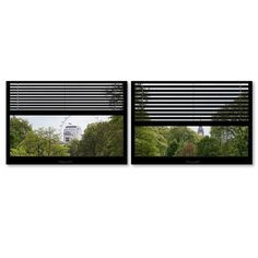 'Window View London Park 4' by Philippe Hugonnard 2 Piece Photographic Print on Wrapped Canvas Set